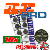 10 CR2430 Battery Lithium Cell Button Batteries Blister Pack frm Melb