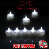 COOL WHITE LED TEA LIGHT TEALIGHT CANDLE FLAMELESS WEDDING DECORATION BATTERY INCLUDED
