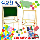 Kids Children Wooden Easel Art Whiteboard Blackboard Magnetic Drawing Board Gift