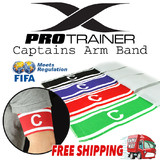 Red Purple Black Green Soccer Football Captain Armband Arm BandThe one Size will fit Youth and Adults  Come in Bright Colours  Comfortable to wear  Br
