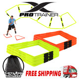 Trapezoid Ring Agility Ladder Fluro Orange Green 6 Pack