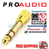 1 x 3.5mm Gold Jack Socket to 6.35mm Plug Headphone Adapter DJ Studio