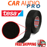 TESA 51608 19mm x 25m, Black Fleece Cloth Tape Cable Looms,Wiring Harness Tape