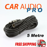 RADIO ANTENNA AERIAL EXTENSION LEAD CABLE CAR COAX AM FM MALE FEMALE 5M