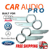 4 x RADIO REMOVAL TOOLS for AUDI MERCEDES VOLKWAGEN VW FORD car stereo radio keys pins