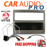 COMPLETE SINGLE DIN INSTALL KIT FOR HOLDEN COMMODORE VY VZ GREY