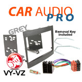VY-VZ COMMODORE 2DIN GREY FACIA FASCIA KIT + WIRING HARNESS + ANTENNA ADAPTOR+KE