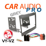 VY-VZ COMMODORE 2 DIN GREY FACIA FASCIA KIT/ ANTENNA ADAPTOR/WIRING HARNESS