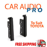 To Suit Toyota HILUX 2005-2011 radio side trims stereo facia kit 2 din double fascia