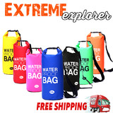 10L Sports Waterproof Dry Bag Backpack Pouch Floating Boating Kayaking Camping
